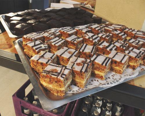 Brownies und Carrot Cake
