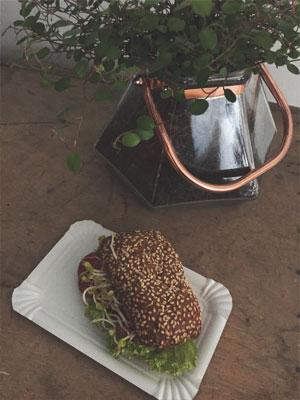 Vollkornbrötchen beim Beauty Blogger Café
