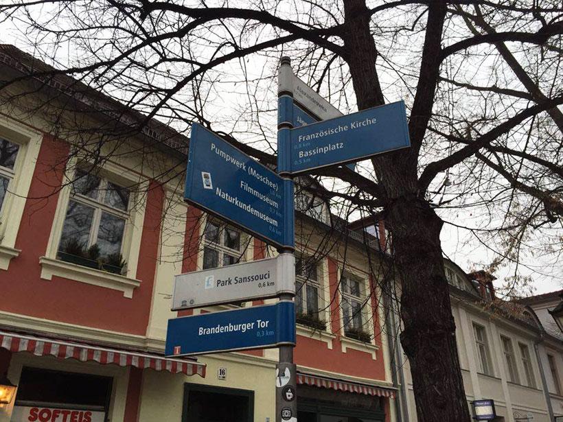 Wegweiser Potsdam