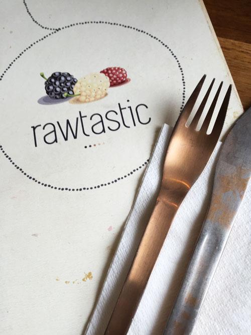 Speisekarte Rawtastic Berlin