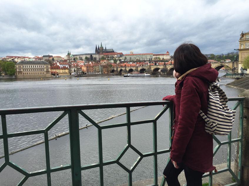 Ausblick Prag Moldau
