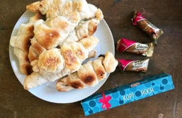 Viba Nougat-Croissants mit Viba Grußboten
