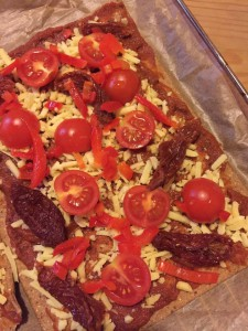 Lizza Zubereitung Low-Carb Pizza