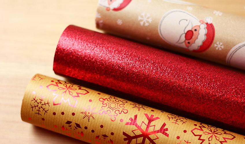Geschenkpapierrollen