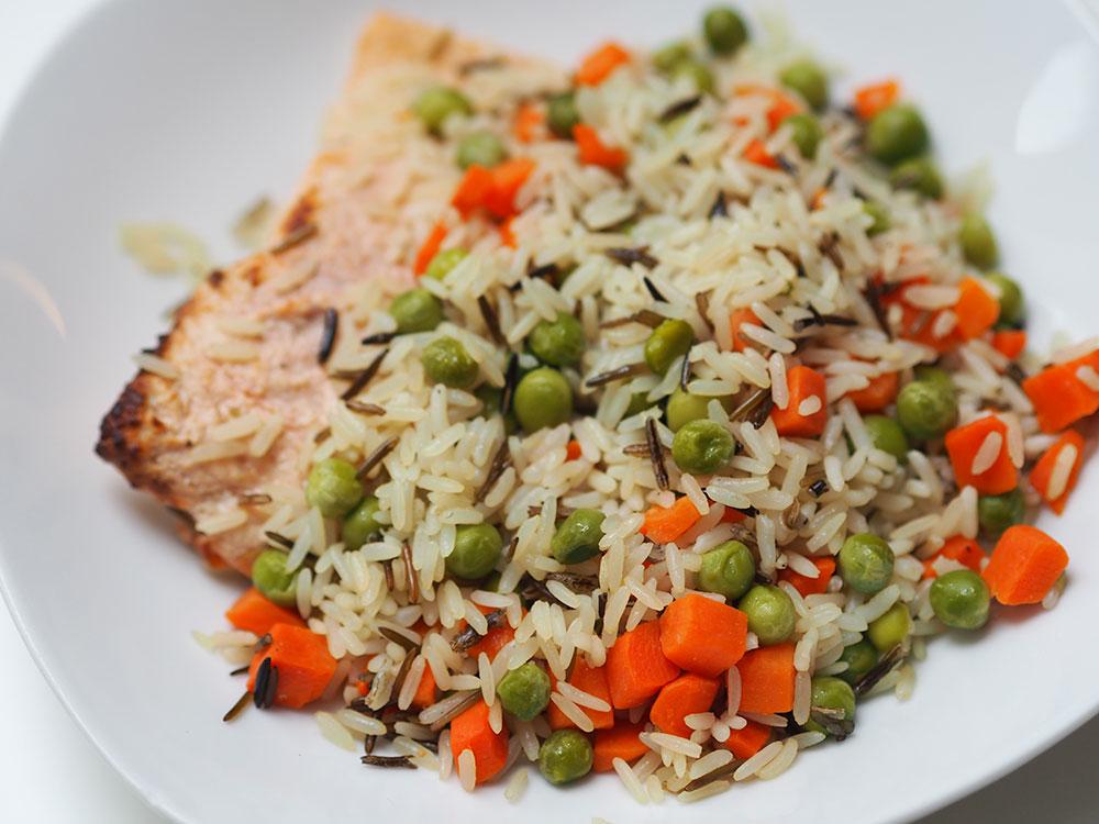 fittaste Reis mit Lachs