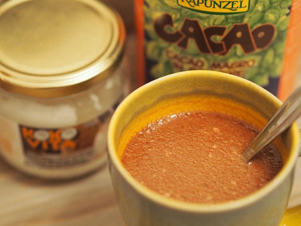 Rezept vegane heiße Schokolade