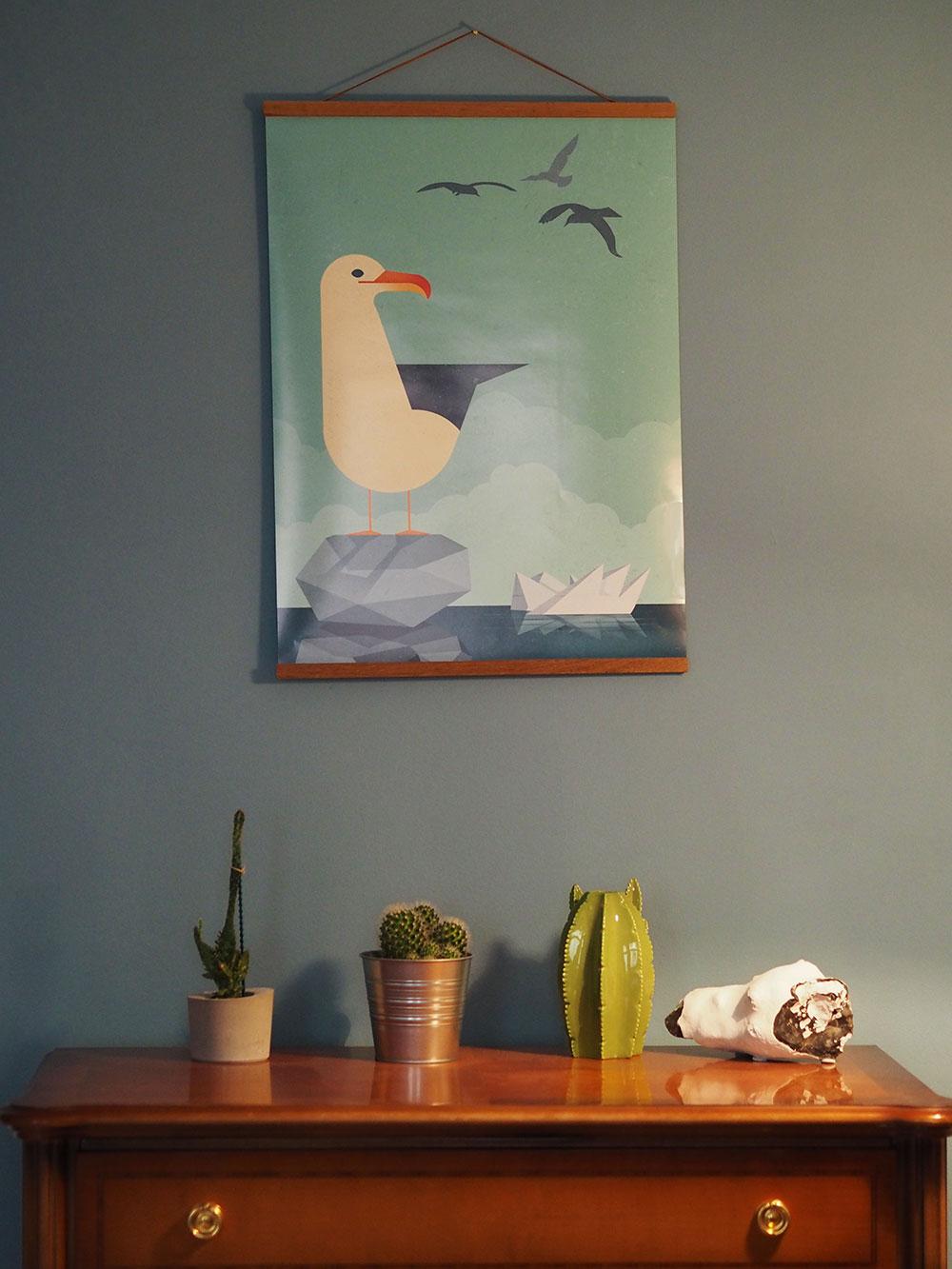 Poster mit Möwe