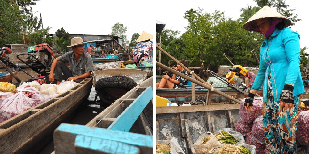 schwimmender Markt Mekong-Delta
