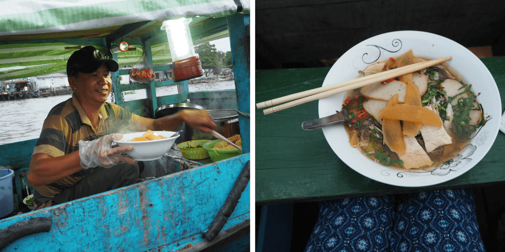 Suppe schwimmender Markt